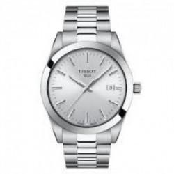 Reloj Tissot Gentleman para hombre en acero con esfera negra, T1274101105100