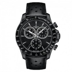 Reloj Tissot V8 de hombre con cronógrafo, Total Black. T1064173605100