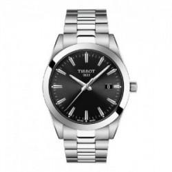 Reloj Tissot Gentleman para hombre en acero con esfera negra, T1274101105100.
