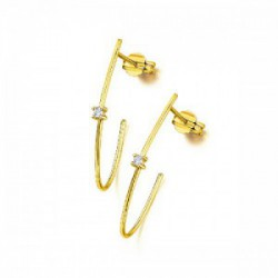PENDIENTES EN ORO AMARILLO Y DIAMANTES GB098OA.00